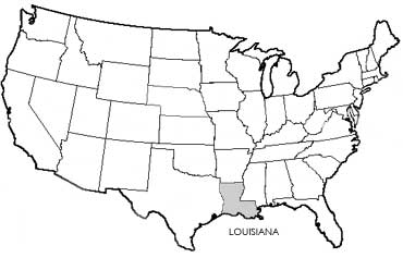Union Justice And Confidence State Symbols USA - Louisiana in usa map