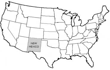 Origin Of New Mexico State Symbols USA - New mexico in us map