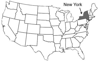 Map Of New York State Usa.New York State Name Origin