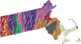 Topographic Map Massachusetts.Massachusetts State Motto Ense Petit Placidam Sub Libertate Quietem