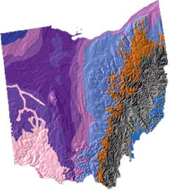 Topography Map Of Ohio.Ohio State Name Origin