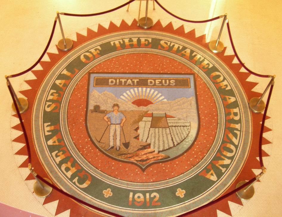 great seal of arizona at the state capitol museum