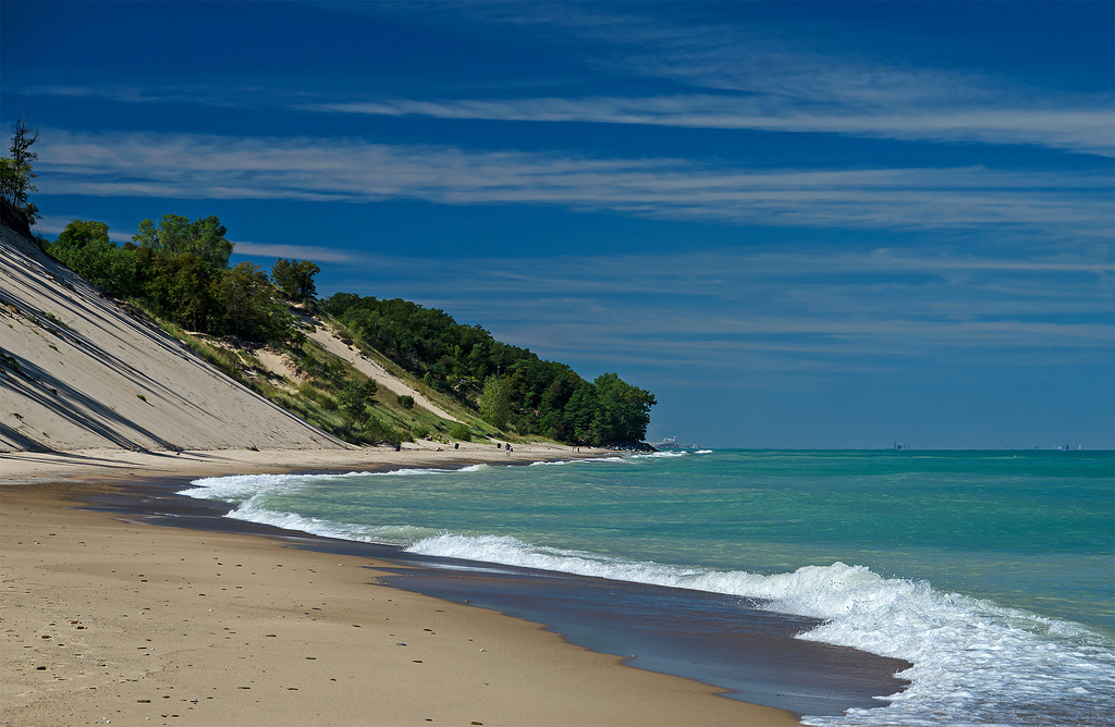 Indiana Dunes National Lakes Michigan City Central Beach