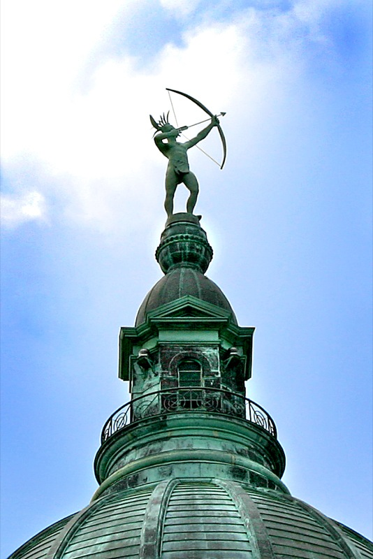 Image result for kansas state house dome kansa warrior