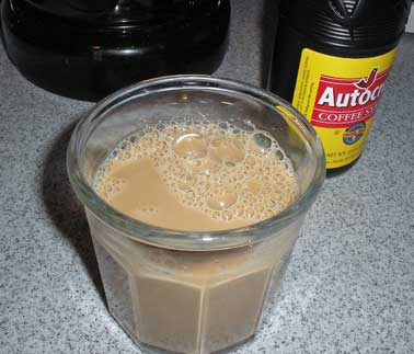 Coffee milk; photo by Dtrap on Wikipedia (use permitted with ...