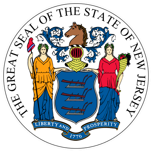 Image result for Image of the flag of New Jersey