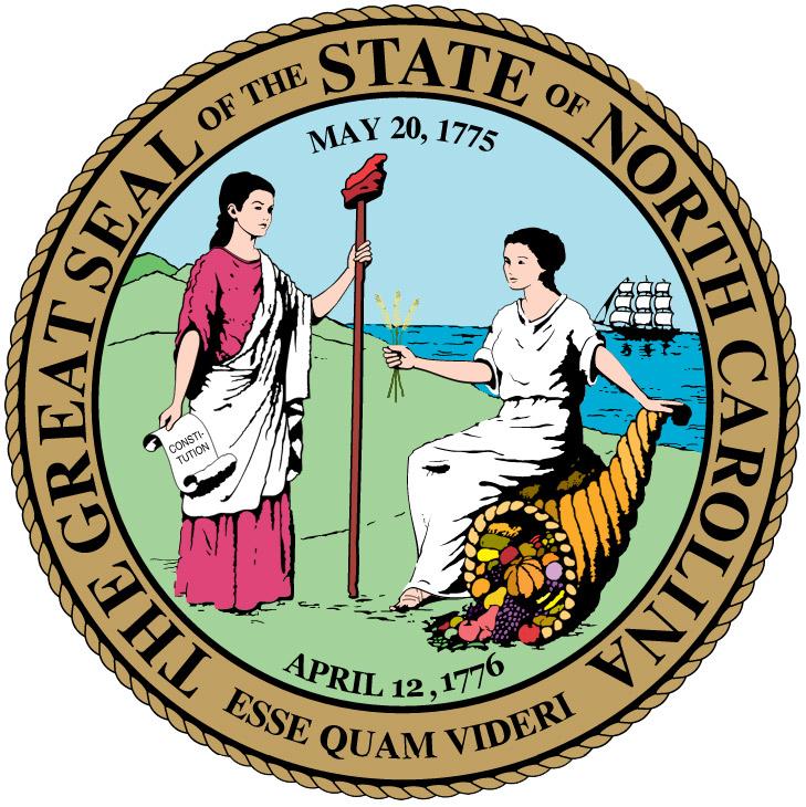 Seal Of North Carolina State Symbols Usa