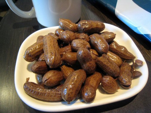 Boiled peanuts; photo by Krista on Flickr (use permitted with ...