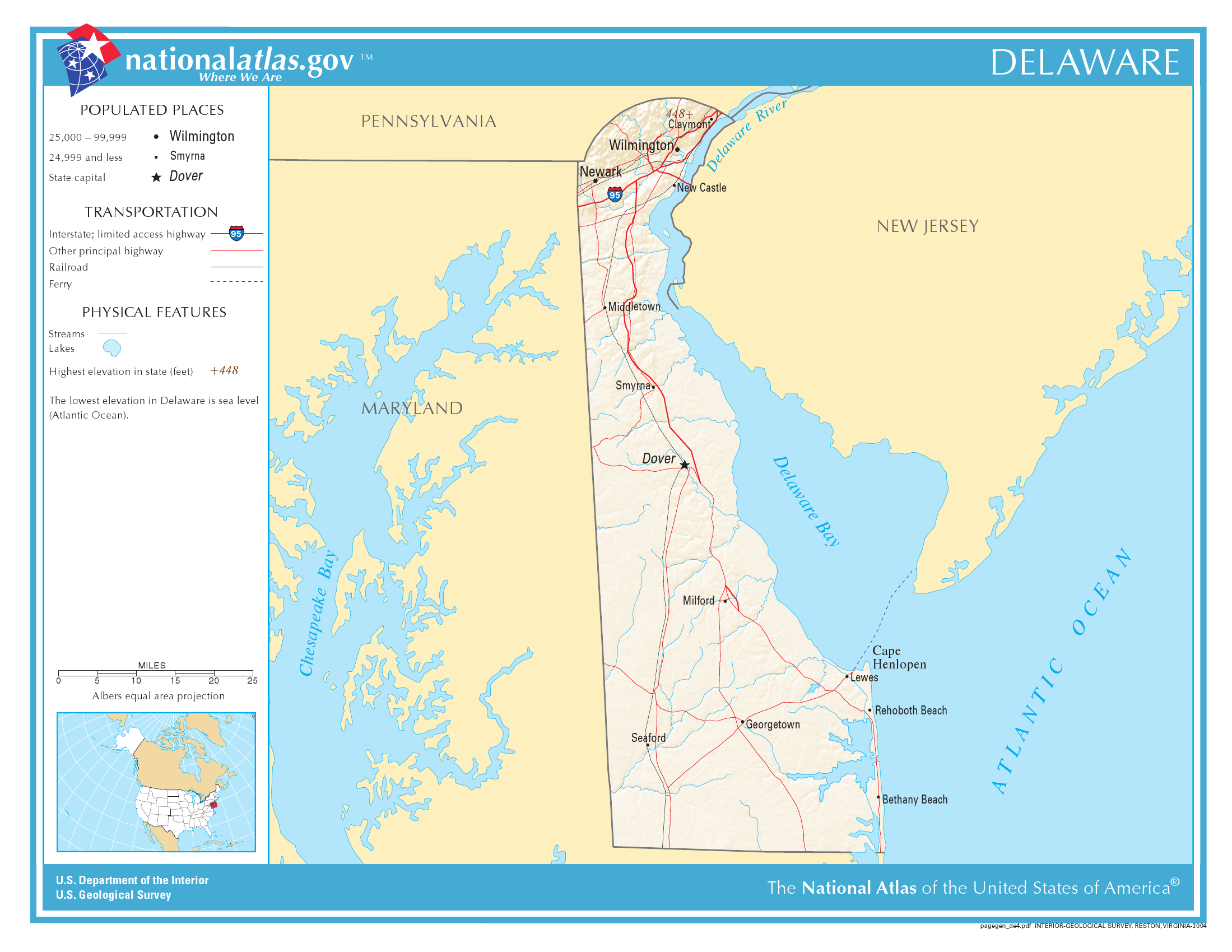 Delaware State Holiday Delaware Day December 7 - Us-map-delaware-state