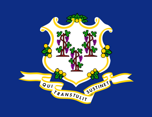 Flag of Connecticut  State Symbols USA