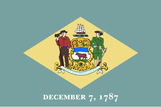 Delaware State Seal Coloring Page Flag of Delaware