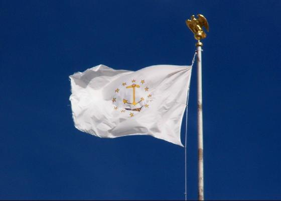 The State Of Rhode Island Flag