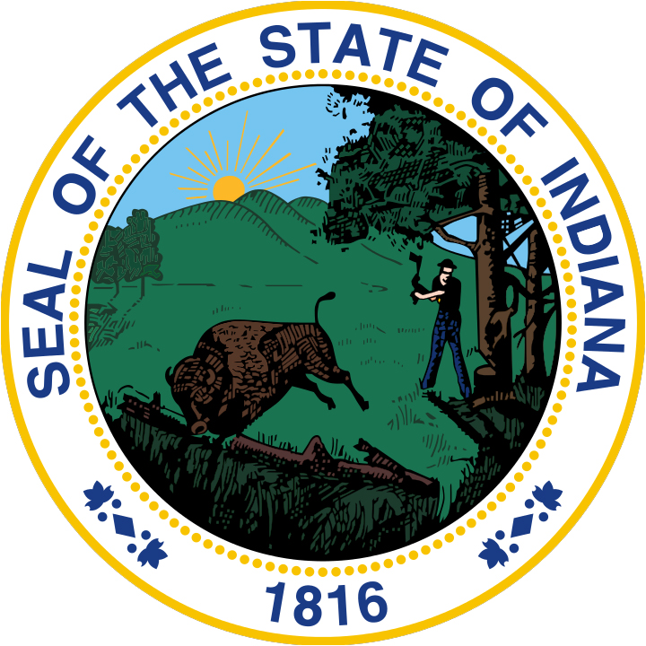 Image result for state seal of IN