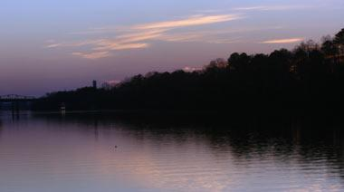 Black Warrior River at sunset (Tuscaloosa, Alabama)