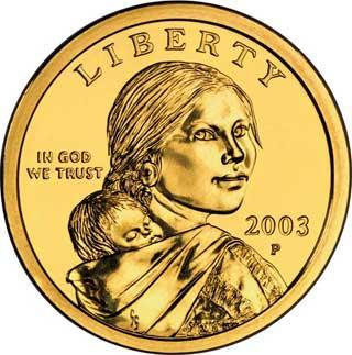 Sacajawea golden dollar