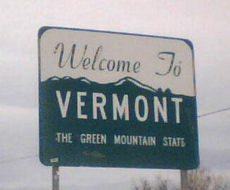 Vermont welcome sign with state nickname