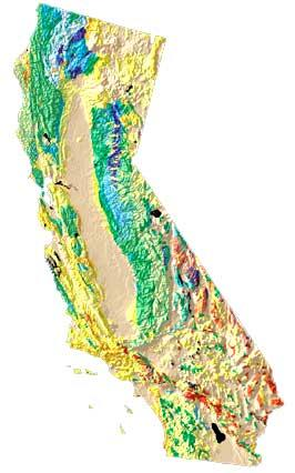 California USA map