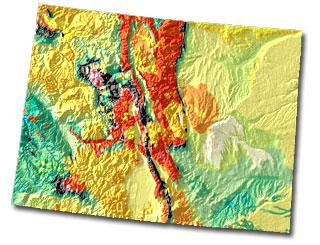 Colorado geology and topography map