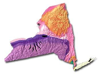New York geology and topography