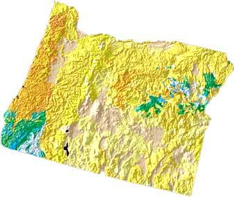 Oregon geology and topography