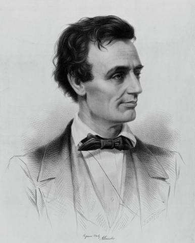 Sketch of young Abe Lincoln