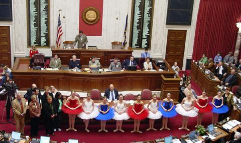 River City Youth Ballet Ensemble is honored by WV Legislature