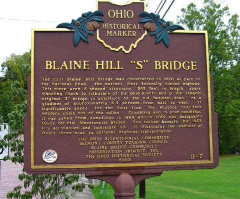 Blaine Hill Bridge Historic Marker