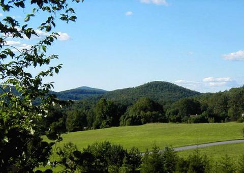 Blue hills in Conway, Massachusetts
