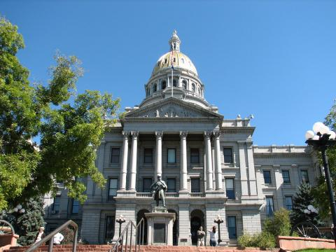 Colorado capitol building in Denver