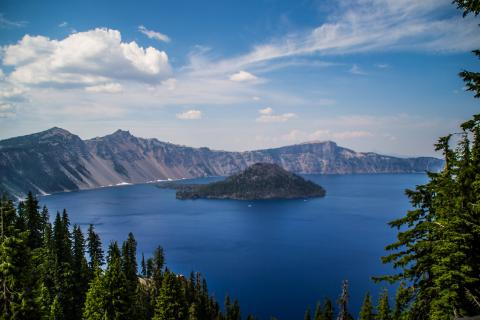 Wizard Island; Crater Lake National Park