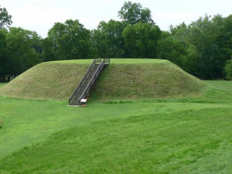 Etowah Indian Mounds near Cartersville in Bartow County, Georgia
