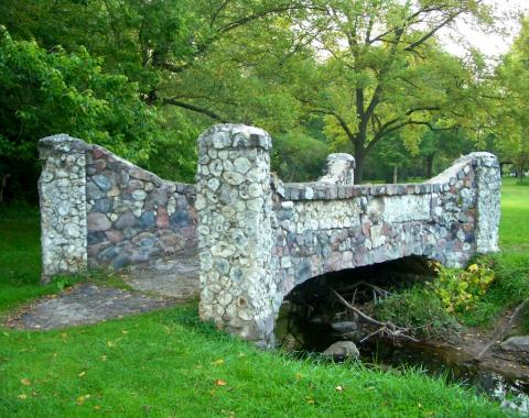 Geode bridge in Mount Pleasant, Iowa