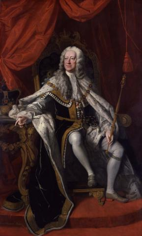 King George II in coronation robes