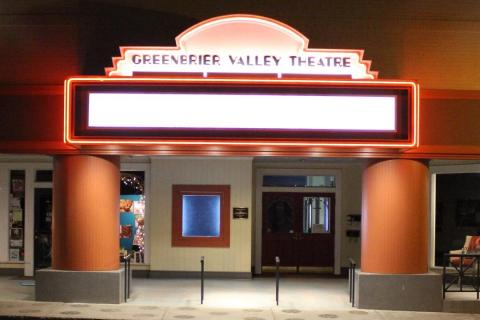 Greenbrier Valley Theatre marquee