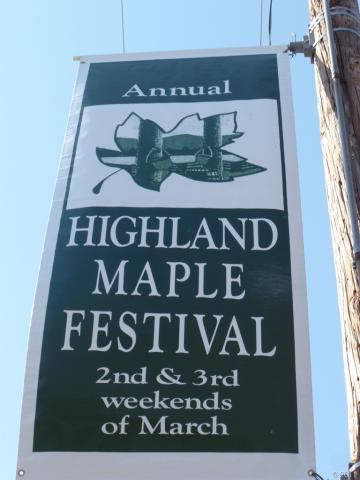 Banner for the Highland County Maple Festival