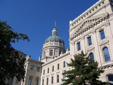 Indiana State House built with Indiana limestone