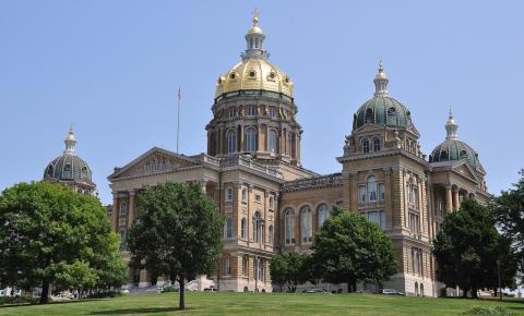 Iowa Capitol building in Des Moines