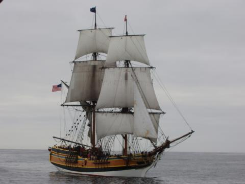 The tall ship Lady Washington