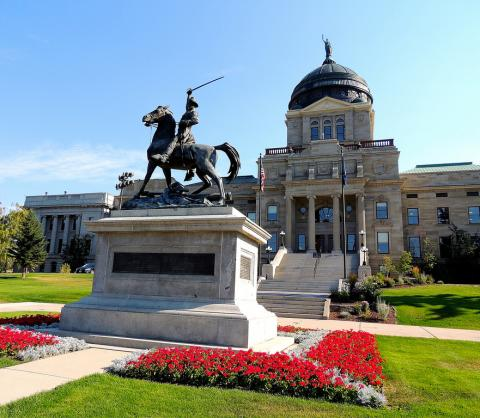 Montana Capitol building in Helena