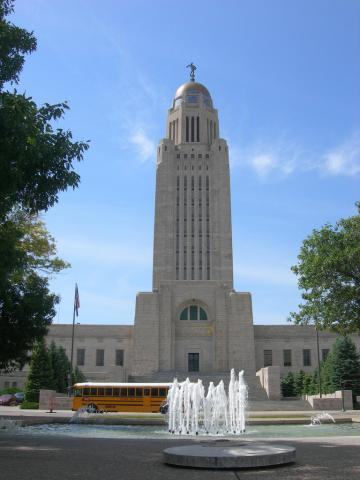 Nebraska State Capitol in Lincoln