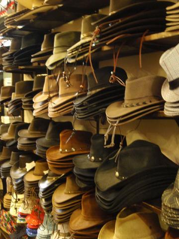 Cowboy hats in Albuquerque, New Mexico