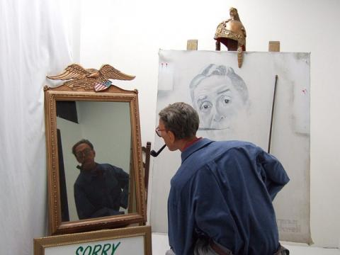 Norman Rockwell paints himself