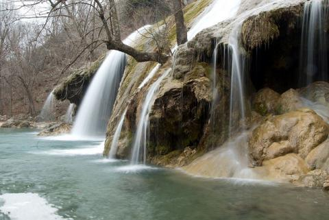 Winter Waterfall in Oklahoma