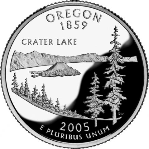 Reverse of Oregon quarter