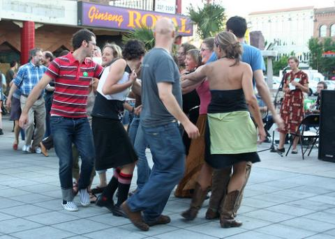 Square dance street party