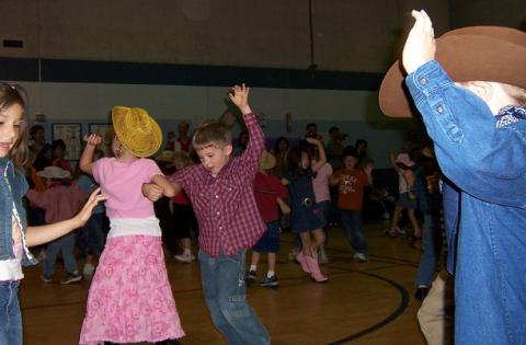 Kids love square dancing