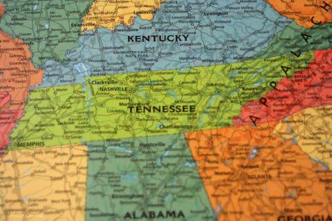 Map of Tennessee USA