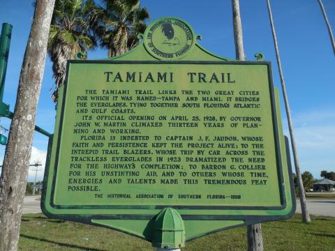 Tamiami Trail Historic Marker