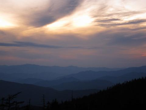 Smokey Mountains at dusk