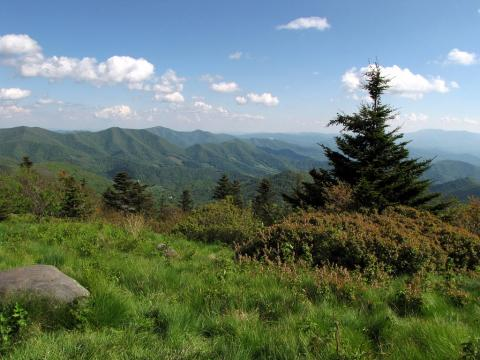 Appalachian mountain vista, Cove Creek, Tennessee